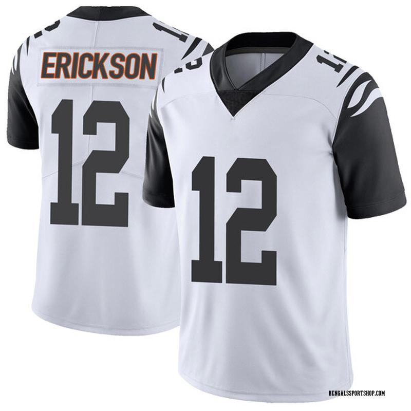 Men's Cincinnati Bengals Alex Erickson White Color Rush Vapor Untouchable Jersey - Limited