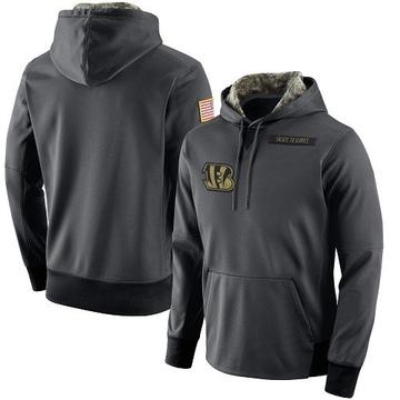 Men's Nike Cincinnati Bengals Anthracite Salute to Service Player Performance Hoodie -
