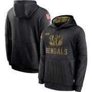 Men's Nike Cincinnati Bengals Black 2020 Salute to Service Sideline Performance Pullover Hoodie -