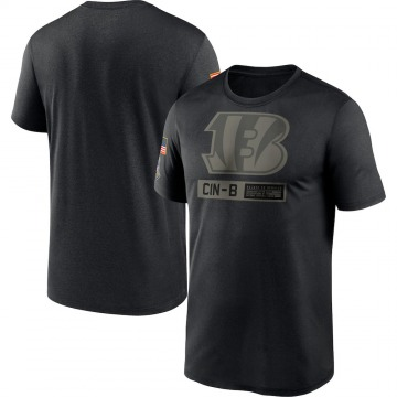 Men's Cincinnati Bengals Black 2020 Salute to Service Team Logo Performance T-Shirt -