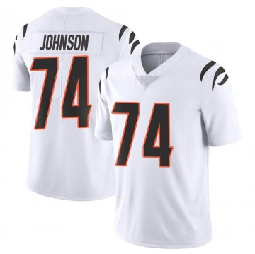 Men's Nike Cincinnati Bengals Fred Johnson White Vapor Untouchable Jersey - Limited