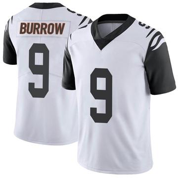 Men's Cincinnati Bengals Joe Burrow White Color Rush Vapor Untouchable Jersey - Limited