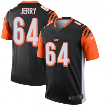 Men's Nike Cincinnati Bengals John Jerry Black Jersey - Legend