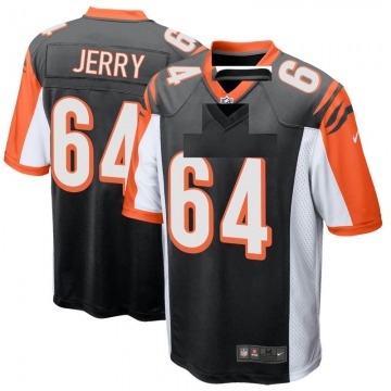 Men's Nike Cincinnati Bengals John Jerry Black Team Color Jersey - Game