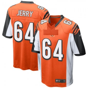 Men's Nike Cincinnati Bengals John Jerry Orange Jersey - Game