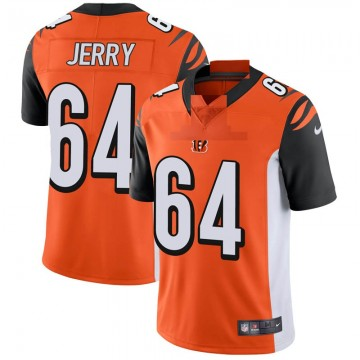 Men's Nike Cincinnati Bengals John Jerry Orange Vapor Untouchable Jersey - Limited