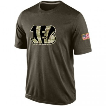 Men's Cincinnati Bengals Olive Salute To Service KO Performance Dri-FIT T-Shirt -