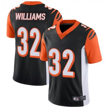 Men's Nike Cincinnati Bengals Trayveon Williams Black 100th Vapor Jersey - Limited