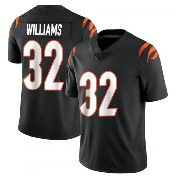 Men's Nike Cincinnati Bengals Trayveon Williams Black Team Color Vapor Untouchable Jersey - Limited