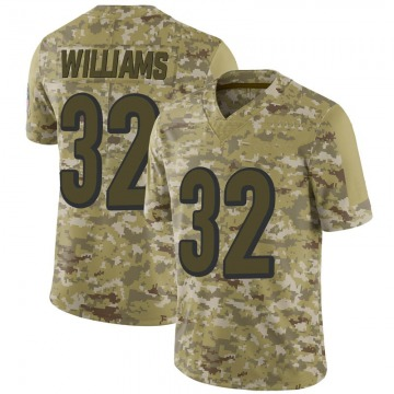Men's Cincinnati Bengals Trayveon Williams Camo 2018 Salute to Service Jersey - Limited