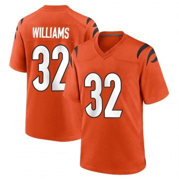 Men's Nike Cincinnati Bengals Trayveon Williams Orange Jersey - Game