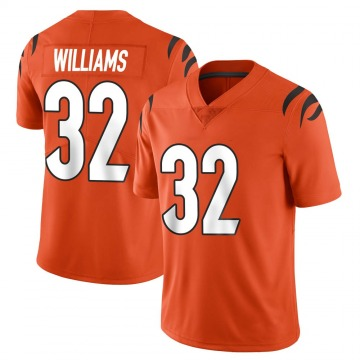 Men's Nike Cincinnati Bengals Trayveon Williams Orange Vapor Untouchable Jersey - Limited