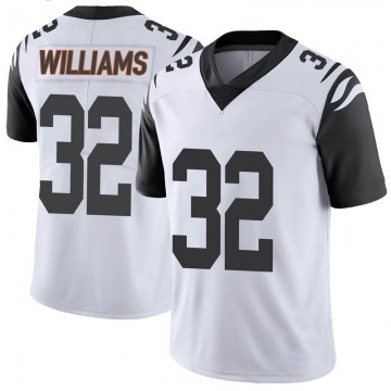 Men's Cincinnati Bengals Trayveon Williams White Color Rush Vapor Untouchable Jersey - Limited