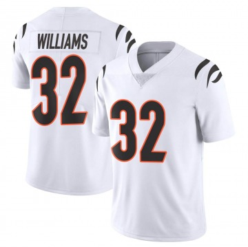 Men's Nike Cincinnati Bengals Trayveon Williams White Vapor Untouchable Jersey - Limited