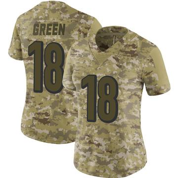 Women's Nike Cincinnati Bengals A.J. Green Camo 2018 Salute to Service Jersey - Limited