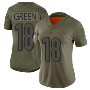 Women's Nike Cincinnati Bengals A.J. Green Camo 2019 Salute to Service Jersey - Limited