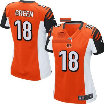 Women's Nike Cincinnati Bengals A.J. Green Orange Jersey - Game