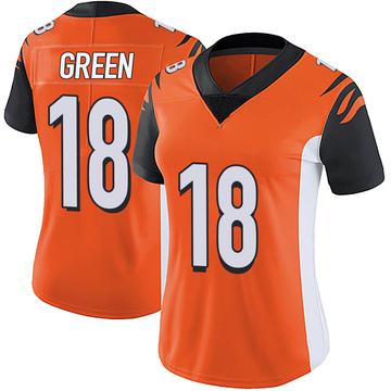 Women's Nike Cincinnati Bengals A.J. Green Orange Vapor Untouchable Jersey - Limited