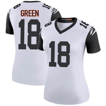 Women's Nike Cincinnati Bengals A.J. Green White Color Rush Jersey - Legend