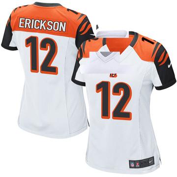 Women's Nike Cincinnati Bengals Alex Erickson White Jersey - Game