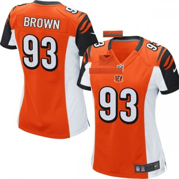 Women's Nike Cincinnati Bengals Andrew Brown Orange Jersey - Game