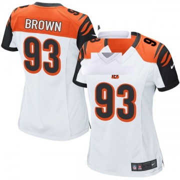 Women's Nike Cincinnati Bengals Andrew Brown White Jersey - Game