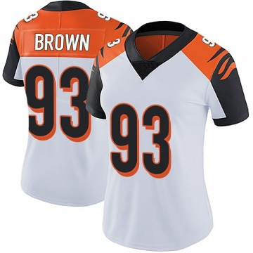 Women's Nike Cincinnati Bengals Andrew Brown White Vapor Untouchable Jersey - Limited