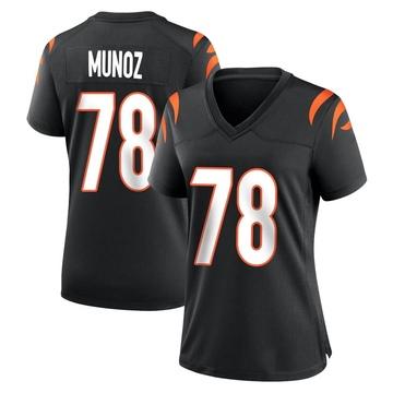 Women's Nike Cincinnati Bengals Anthony Munoz Black Team Color Jersey - Game