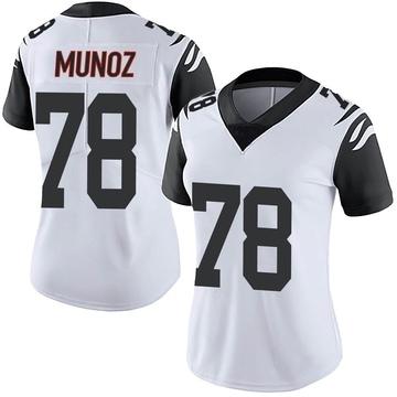 Women's Nike Cincinnati Bengals Anthony Munoz White Color Rush Vapor Untouchable Jersey - Limited