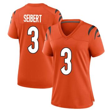Women's Nike Cincinnati Bengals Austin Seibert Orange Jersey - Game