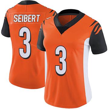 Women's Nike Cincinnati Bengals Austin Seibert Orange Vapor Untouchable Jersey - Limited
