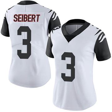 Women's Nike Cincinnati Bengals Austin Seibert White Color Rush Vapor Untouchable Jersey - Limited