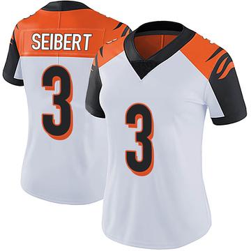 Women's Nike Cincinnati Bengals Austin Seibert White Vapor Untouchable Jersey - Limited