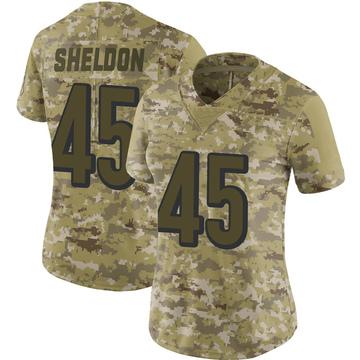 Women's Nike Cincinnati Bengals Brady Sheldon Camo 2018 Salute to Service Jersey - Limited