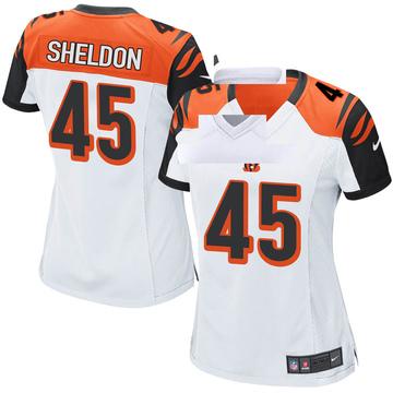 Women's Nike Cincinnati Bengals Brady Sheldon White Jersey - Game