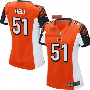 Women's Nike Cincinnati Bengals Brandon Bell Orange Jersey - Game