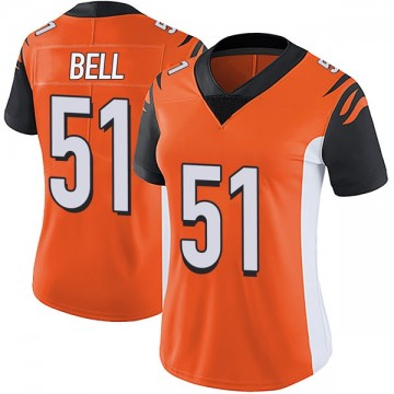 Women's Nike Cincinnati Bengals Brandon Bell Orange Vapor Untouchable Jersey - Limited