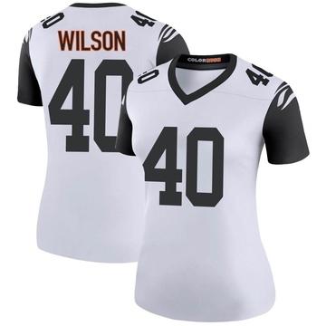Women's Nike Cincinnati Bengals Brandon Wilson White Color Rush Jersey - Legend