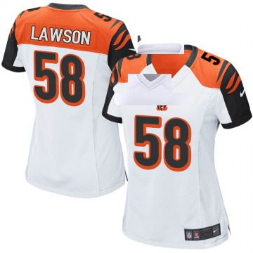 Women's Nike Cincinnati Bengals Carl Lawson White Jersey - Game