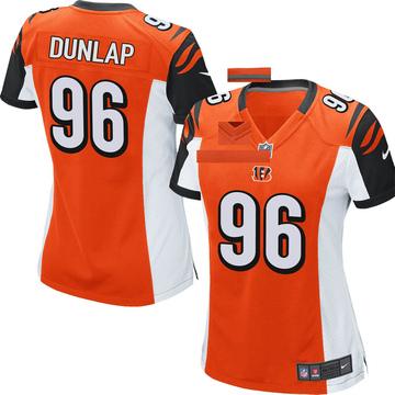 Women's Nike Cincinnati Bengals Carlos Dunlap Orange Jersey - Game