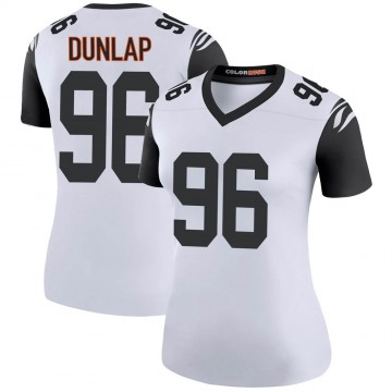 Women's Nike Cincinnati Bengals Carlos Dunlap White Color Rush Jersey - Legend