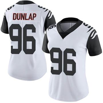 Women's Nike Cincinnati Bengals Carlos Dunlap White Color Rush Vapor Untouchable Jersey - Limited