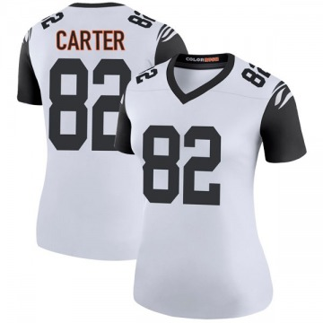 Women's Nike Cincinnati Bengals Cethan Carter White Color Rush Jersey - Legend
