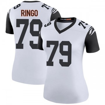 Women's Nike Cincinnati Bengals Christian Ringo White Color Rush Jersey - Legend