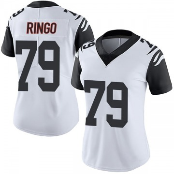 Women's Nike Cincinnati Bengals Christian Ringo White Color Rush Vapor Untouchable Jersey - Limited