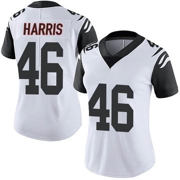 Women's Nike Cincinnati Bengals Clark Harris White Color Rush Vapor Untouchable Jersey - Limited