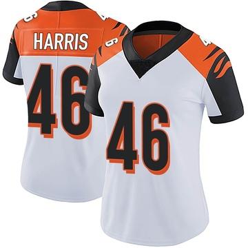 Women's Nike Cincinnati Bengals Clark Harris White Vapor Untouchable Jersey - Limited