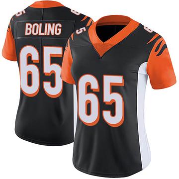 Women's Nike Cincinnati Bengals Clint Boling Black Team Color Vapor Untouchable Jersey - Limited