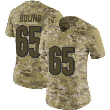 Women's Nike Cincinnati Bengals Clint Boling Camo 2018 Salute to Service Jersey - Limited