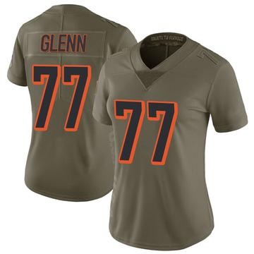 Women's Nike Cincinnati Bengals Cordy Glenn Green 2017 Salute to Service Jersey - Limited